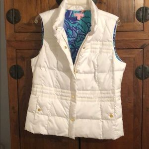 Darling Lily Pulitzer puffy vest.